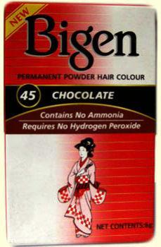 Bigen Permanent Powder Hair Colour Chocolate 45