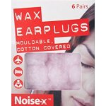 Noise-x Earplugs Wax Cotton 6 Pairs