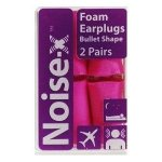 Noise-x Earplugs Foam Bullet 2 Pairs