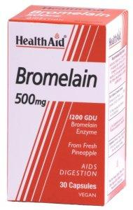 HealthAid Bromelain 500mg Capsules Pack of 30