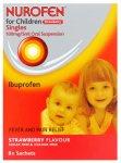 Nurofen For Children Sachets Strawberry 5ml Pack of 8