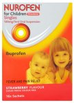 Nurofen For Children Sachets Strawberry 5ml Pack of 16