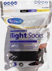 Scholl Flight Socks Black Size 9.5-12
