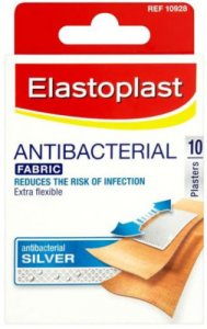 Elastoplast Antibacterial Fabric Plasters Pack of 10