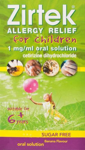 Zirtek Allergy Solution Sugar-free 70ml