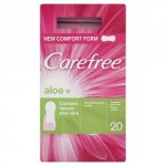 Carefree Panty Liners Breathable Aloe Pack of 20
