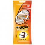 BIC 3 Comfort Sensitive Disposable Shaver Pack of 4