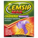 Lemsip Max Sachets Blackcurrant Pack of 5