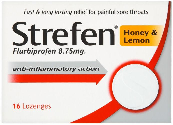 Strepsils Strefen Lozenges Honey & Lemon Pack of 16