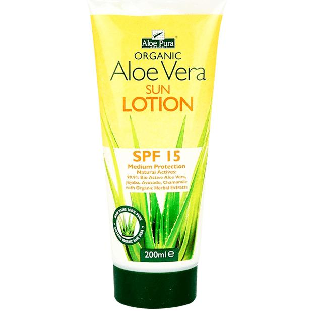 Aloe Pura Organic Aloe Vera Sun Lotion SPF15 200ml