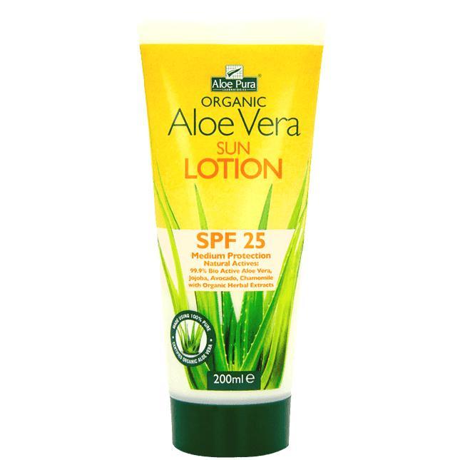 Aloe Pura Organic Aloe Vera Sun Lotion SPF25 200ml