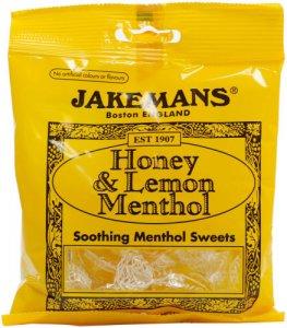 Jakemans Cough Sweets Honey & Lemon Menthol 100g