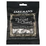 Jakemans Cough Sweets Throat & Chest Menthol 100g
