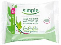 Simple Kind to Eyes Eye Make up Remover Pads Pack of 30