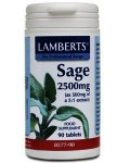 Lamberts Sage Tablets 2500mg Pack of 90