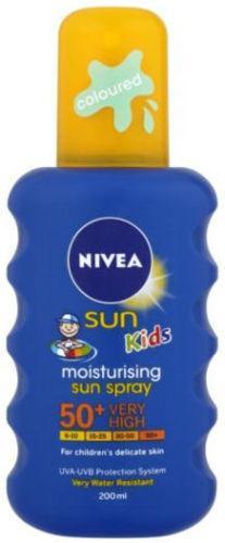 Nivea Childrens Coloured Sun Spray SPF50+ 200ml
