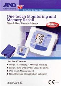A&D Value Digital Electronic Blood Pressure Monitor UA631