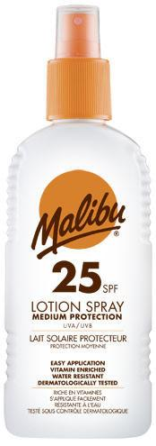 Malibu Sun Lotion Spray SPF25 200ml