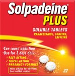 Solpadeine Plus Soluble Tablets Pack of 32