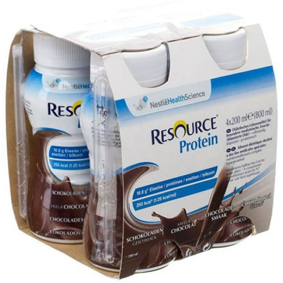 Resource Protein Chocolate 200ml Pack of 4