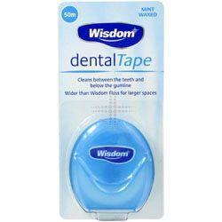 Wisdom Waxed Mint Flavoured Dental Tape 50m