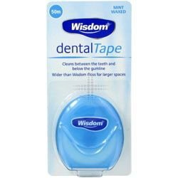 Wisdom Waxed Mint Flavoured Dental Tape 50m