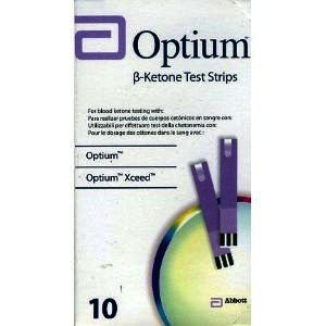Optium Beta Ketone Test Strips Pack of 10