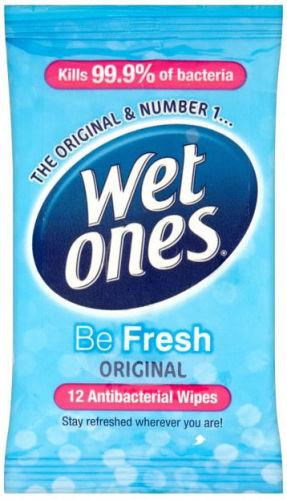 Wet Ones Be Fresh Original Wipes Pack of 12