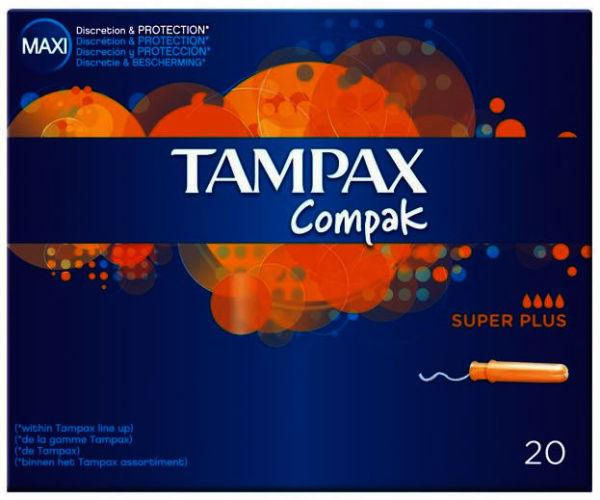Tampax Compak Super Plus Tampons Pack of 20