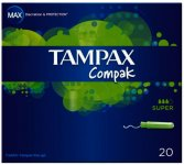 Tampax Compak Super Tampons Pack of 20