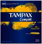 Tampax Compak Regular Tampons Pack of 20