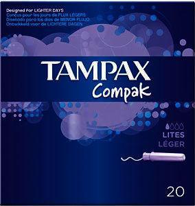 Tampax Compak Lites Tampons Pack of 20