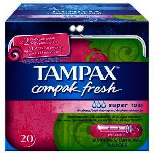 Tampax Compak Fresh Super Tampons Pack of 20