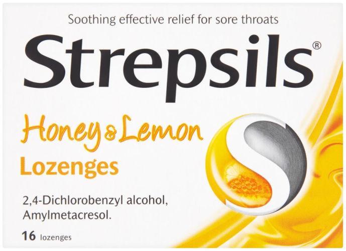Strepsils Lozenges  Honey & Lemon Pack of 16
