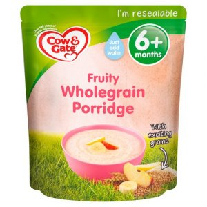 Cow and Gate Fruity Wholegrain Porridge from 6 Months 125g