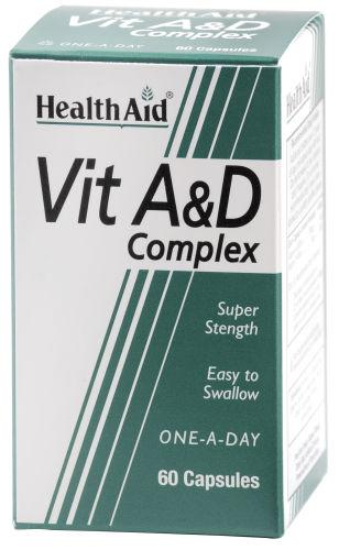 HealthAid Vitamin A & D Complex Capsules Pack of 60