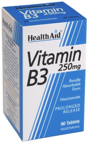 HealthAid Vitamin B3 250mg Tablets Pack of 90