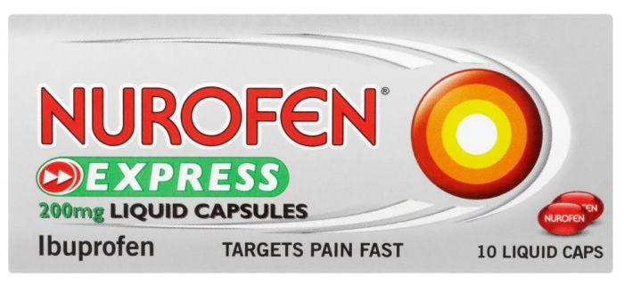 Nurofen Express 200mg Liquid Capsules Pack of 10