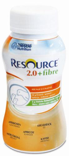 Resource 2.0 Fibre Apricot 200ml Pack of 4