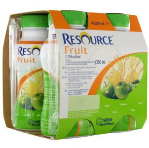 Resource Fruit Apple 200ml Pack of 4