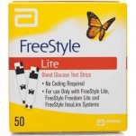 Freestyle Lite Blood Glucose Test Strips Pack of 50