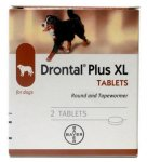 Drontal Plus Dog XL Tape & Roundworm Tablets Pack of 2