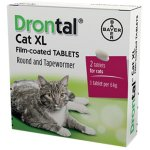 Drontal Cat XL Tape & Roundworm Tablets Pack of 2