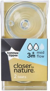 Tommee Tippee Closer to Nature Medium Flow Teats Pack of 2