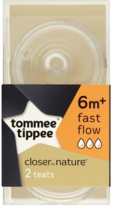 Tommee Tippee Closer to Nature Fast Flow Teats Pack of 2