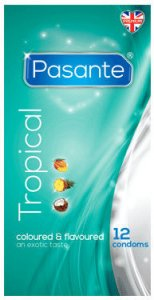 Pasante Tropical Flavour Condoms Pack of 12