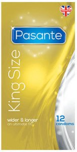 Pasante King Size Condoms Pack of 12
