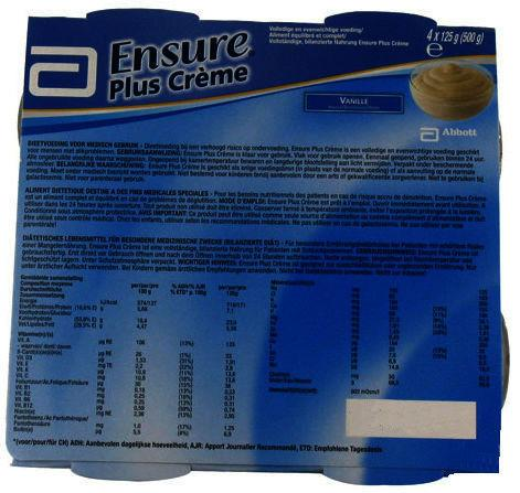 Ensure Plus Creme Vanilla 125g Pack of 4