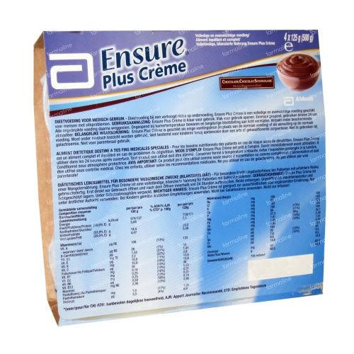 Ensure Plus Creme Chocolate 125g Pack of 4