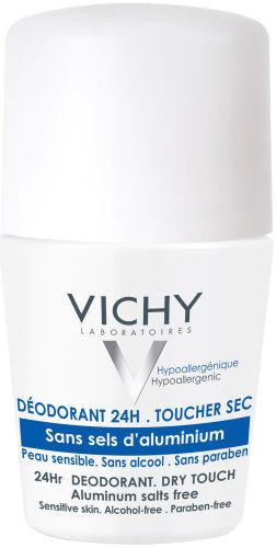 Vichy Deodorant 24hr Salt-Free Dry Touch Roll On